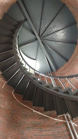 Woods Hole, MA: The staircase leading upward.