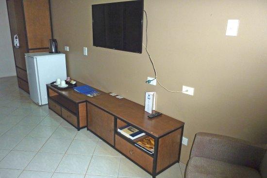 Goroka, Papua New Guinea: Room furniture not table for computer