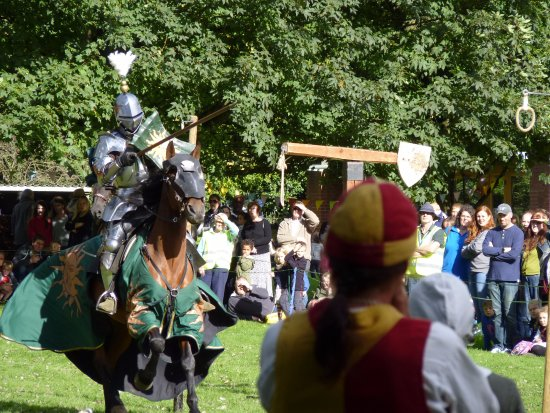 Bromsgrove, UK: Jousting event 2016 at Avoncroft Museum of Historic Buildings