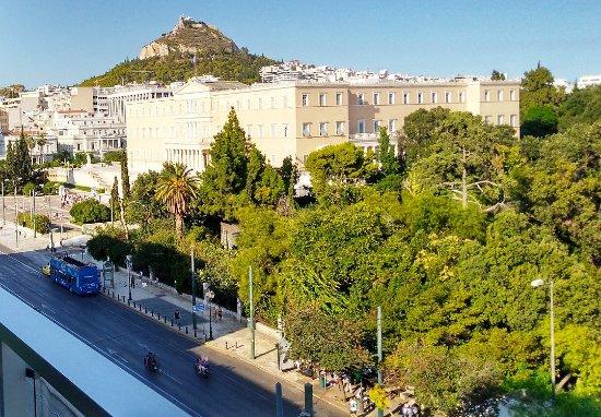 Amalia Hotel Athens, Room 503, Balcony View, August 2017