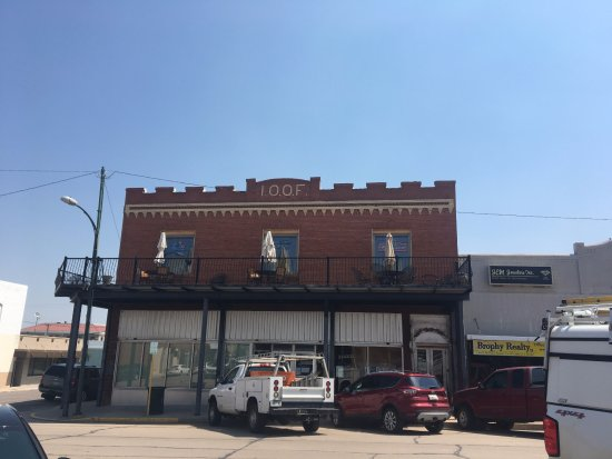 Wray, CO: Restaurant is on the second floor in restored historic building.