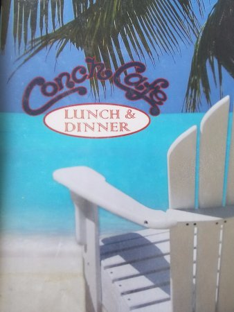 Conch Cafe: Front of the menu