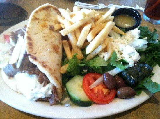 Φλόρενς, Αριζόνα: Gyrho sandwich for dinneer