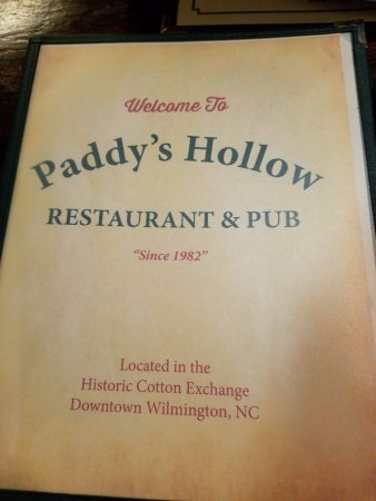 Paddy S Hollow Restaurant Wilmington Nc