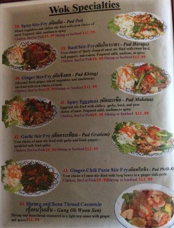 Siam Garden Cafe Honolulu Menu