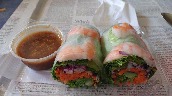 Wegmans Market Cafe: Vietnamese Shrimp Roll (150 calories) - With peanut dipping sauce