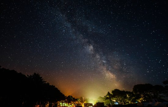 Governor Patterson Memorial State Recreation Site: Milky Way over Gov. Patterson Memorial Recreation Area