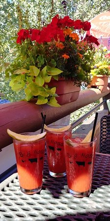 Snowmass Village, CO: Bloody Mary's at Brunch on the patio - Labor Day Weekend