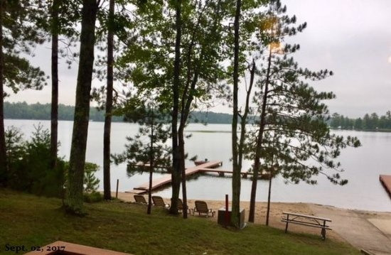 Saint Germain, WI: From our cabins deck.