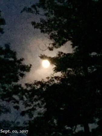 Saint Germain, WI: Moon at night