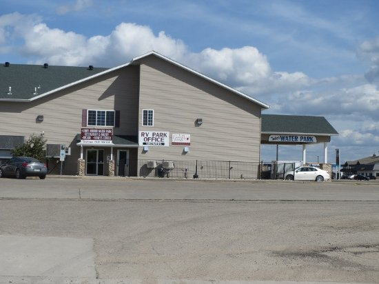 Casselton, ND: The Office which is across the street from the RV Park. This is where the showers are located.
