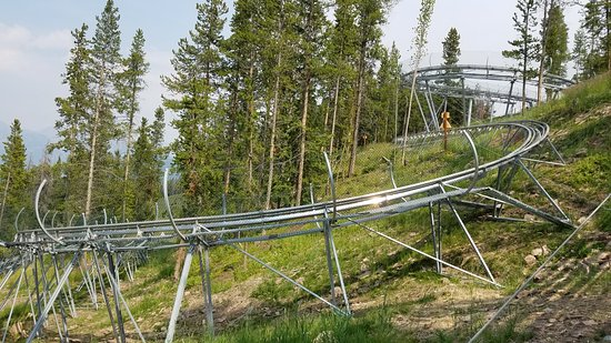 Vail Mountain Resort: Riding back up the coaster looking at the tracks