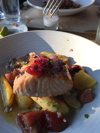 Pound Ridge, NY: Slow cooked salmon