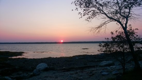Bar Harbor Campground KOA: Sunset from our site.