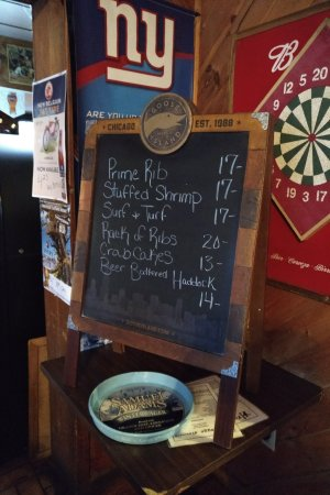 Cambridge, NY: Specials for the night.