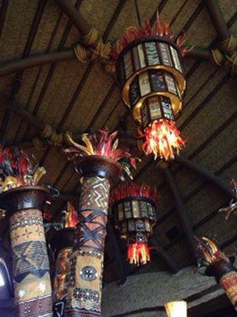 Disney's Animal Kingdom Villas - Kidani Village: Decor in the check-in area