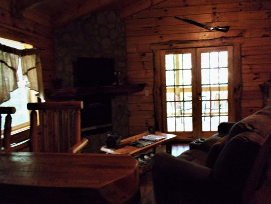 South Bloomingville, OH: Sitting area for whiskey cabin.