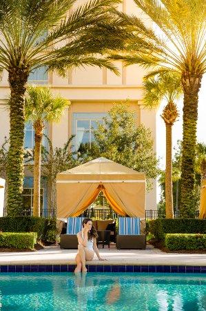 Private poolside cabanas Waldorf Astoria Orlando