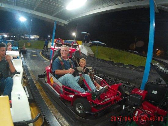 Fast Eddies Fun Center: Night racing!