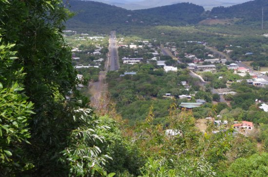 Looking down over the main street of Cooktown.