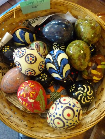 Robesonia, PA: Redware eggs are a favorite collectible.