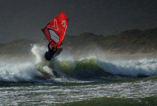 Tasmania, أستراليا: Windsurfer off Bakers Beach