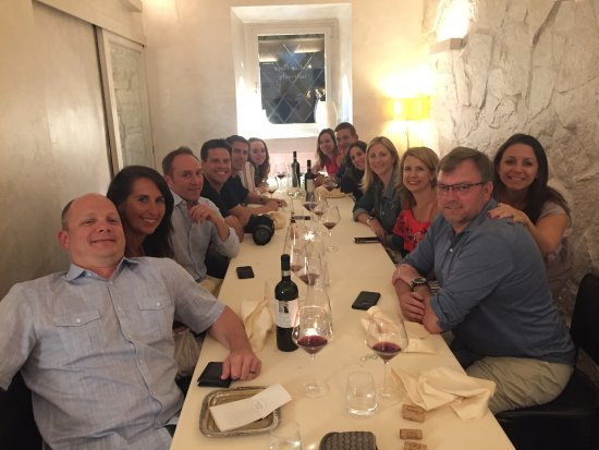 Antico Arco: Our group and private room