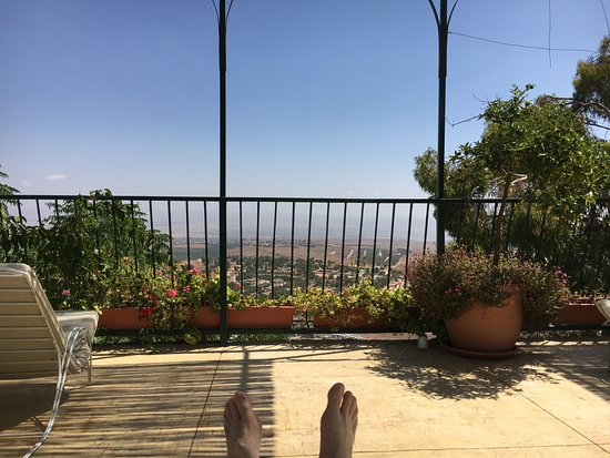 Hotel Mitzpe Hayamim: View from pool area