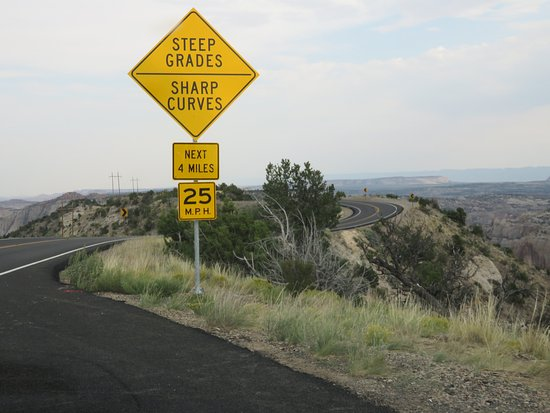 Sharp curves, steep cliffs, and no guard rails  - Picture of