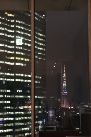 Mitsui Garden Hotel Ginza Premier: The hotel lobby view can see the tokyo tower