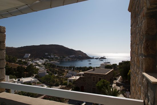 Theologos Houses: view from the terrace off of the living area