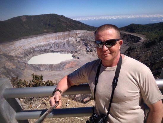 Poas Volcano National Park, Costa Rica: Selfi a vulkán mellett