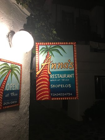 Anna's Restaurant: Follow the signs to the restaurant...