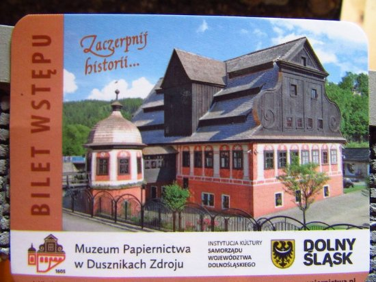 Muzeum Papiernictwa w Dusznikach-Zdroju: bilet
