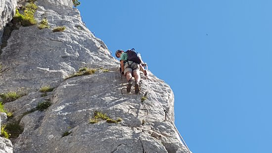 Waidring, Austria: Klettern auf der Steinplatte - Klettersteig
