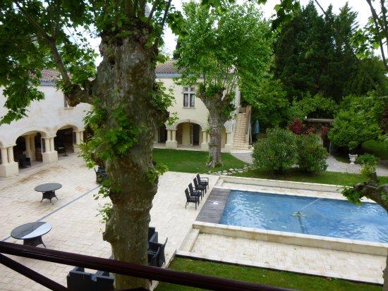 Domaine de Valmont Barsac (terrasse vue de la chambre)