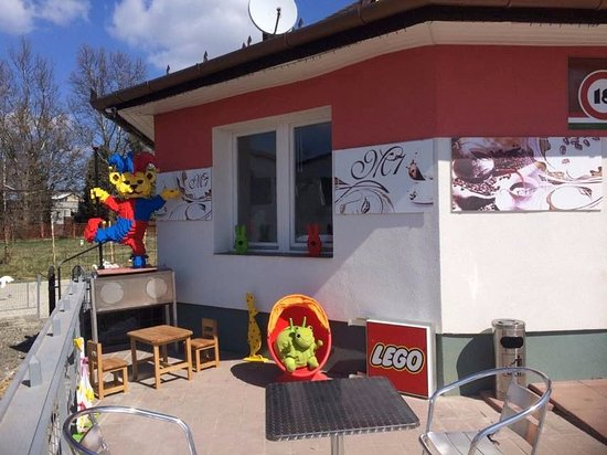 Nagykanizsa, Hungary: Kids' play corner on the terrace