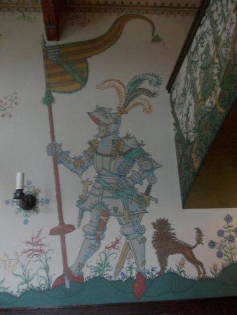 Romantik Hotel auf der Wartburg: Salón decorado con motivos medievales