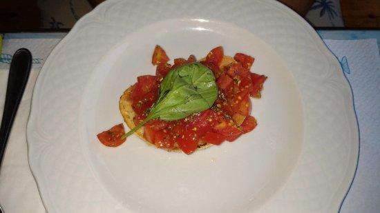 Panza, Italia: bruschetta al pomodoro