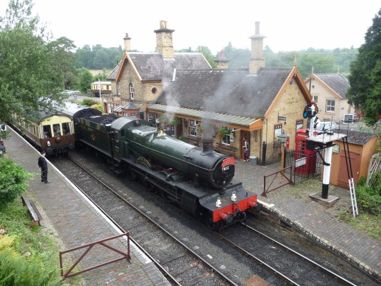 Kidderminster, UK: Arley Station / Hatley Station from Dr. Beeching