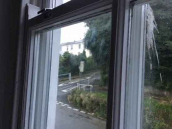 The Greenbank Hotel: Apart from the bird poo there were sticky hand prints on the inside of the window