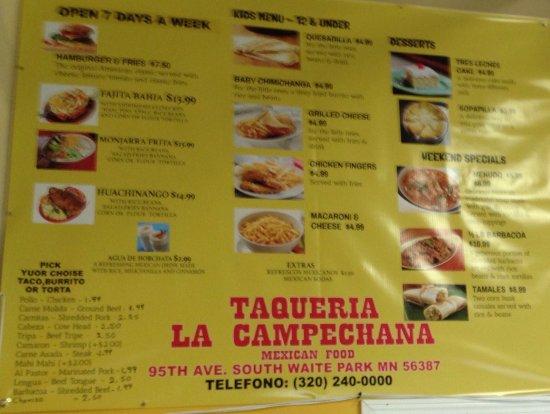 Waite Park, MN: Taqueria La Campechana
