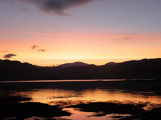 Lochcarron, UK: sunrise from bedroom