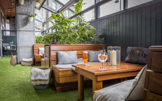 harbour hotel galway outdoor heated garden at dillsk on the docks - Garden Furniture Galway