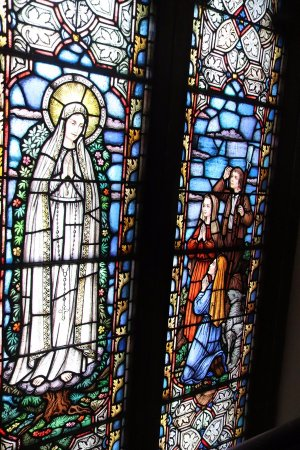 Cathedral of Saint Mary: Beautiful stained-glass window