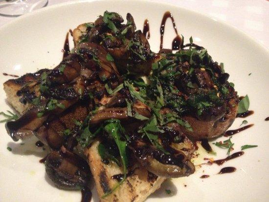 Guildford, Australia: Balsamic mushrooms on bruschetta
