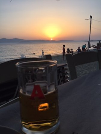 Agia Anna Beach: Agia Anna from traverna, through evening beach games to sunsets to die for