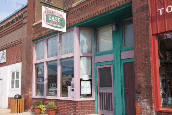 Cayannes' Cafe just off the High Trestle Trail in Woodward Iowa