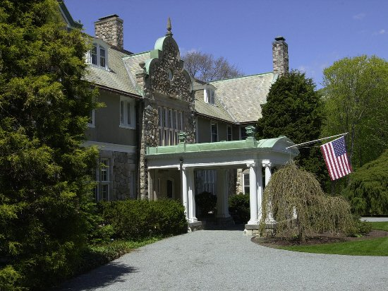 Bristol, RI: This is the front entrance of Blithewold, the former Van Wickle estate