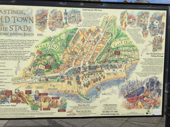 Map Of England Hastings.Mappa Storica Della Citta Picture Of Old Town Hastings Hastings